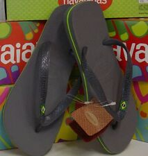 Havaianas Brazil LOGO grey Flip Flops womens & mens Thongs Sandals