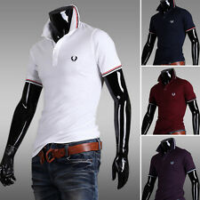 Fashion Men Slim Fit Casual Polo Shirt T-Shirt Short Sleeve Tee Top Rugby Jersey