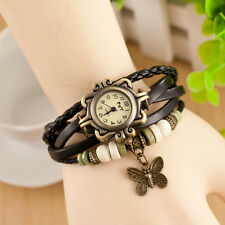 Fashion Women's Bracelet Butterfly Analog Watch Quartz Girl's Retro Wrist Watch