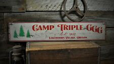 Custom Lodge or Campgrounds Sign - Rustic Hand Made Vintage Wood Sign ENS1000462