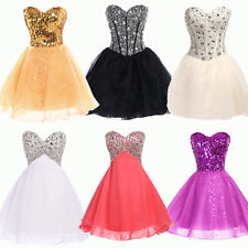 Sparkling Sequins Short Mini Evening Cocktail Party Formal Bridesmaid Prom Dress