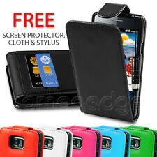 FLIP PU  LEATHER CASE COVER FOR SAMSUNG GALAXY S2 I9100 FREE SCREEN PROTECTOR