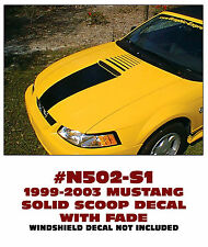 N502-S1 1999-03 FORD MUSTANG SOLID SCOOP STRIPE WITH FADE - FLAT HOOD MODELS
