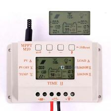 30A 20A 10A MPPT 12V/24V Solar Panel Battery Regulator LCD Charge Controller CE