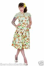 Banned Green Butterfly Birds And Flowers Retro 50's Style Dress
