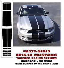 K577 2013-14 MUSTANG TAPERED LEMANS STRIPES - HARDTOP - NO WING