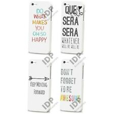 NEW QUOTE HAPPY LIFE SAYINGS RETRO HARD CASE COVER FOR APPLE IPHONE 4 4S 5 5S