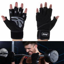 Exercise Fitness Weight Lifting Body Building Gloves Gym Training Black ESDay