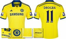 *14 / 15 - ADIDAS ; CHELSEA AWAY SHIRT SS + PATCHES / DROGBA 11 = SIZE*