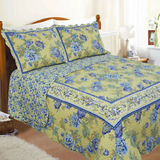 Restmor Provencal Scalloped Floral Quilted Bedspread