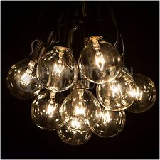 25 Foot Outdoor Globe Patio String Lights - Set of 25 G50 Clear Bulbs