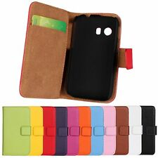 Samsung Galaxy Y S5360 Genuine Stand Folio Wallet Leather Card Hard Case Cover