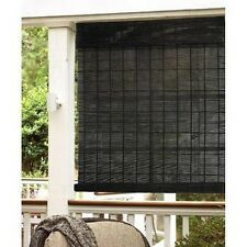 Espresso Natural Bamboo Indoor/ Outdoor Roll Up Shade