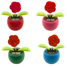 Dancing Ladybug Solar Powered Flip Flap Toy Flower Bug Bobble Plant Pot Swing