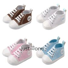 Trendy f Kids Baby Infants Toddlers Soft Sole Anti Slip Canvas Summer Walk Shoes