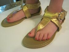 NEW CHATTIES GIRLS GOLD THONG SANDALS  12/13, 1/2, 3/4