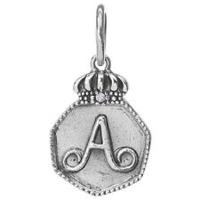 Waxing Poetic REGAL Insignia Charm Sterling Silver Letter A B C D E F G H I