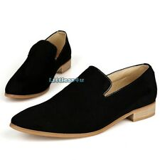 Men Faux Suede Leather Shoes Slip On Loafer Casual Fashion Black/Brown/Blue New