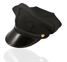 COPS AND ROBBERS CHAUFFEUR PEAKED LIMI DRIVER HAT CAP FANCY DRESS ACCESSORIES
