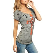 AFFLICTION women's NOT DEAD studded scoop neck tee. FREE SHIPPING