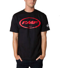 "FMF Racing ""Classic Don"" Mens Cotton T-Shirt Black With Orange Or Red FMF Logo"
