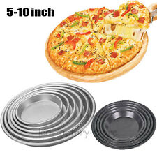 "5"" 6"" 7"" 8"" 9"" 9"" 10"" Non Stick Round Pizza Pan Cake Baking Tray Oven Tin #T"