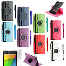 360 Rotating Smart Cover Case for 2012 2013 Google Nexus 7 Asus 1st 2nd Tab I II