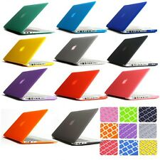 "New for Macbook Pro 13/15"" Air 11/13"" Keyboard Cover+ Rubberized Hard Case Shell"