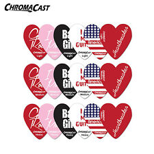Heart Shaped Guitar Picks Girl Pick Light Medium Heavy Assorted Gauges for Girls