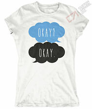 OKAY? OKAY WOMENS THE FAULT IN OUR STARS T SHIRT TOP TFIOS TUMBLR QUOTE LOVE NEW