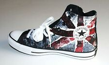 NEW CONVERSE CHUCK TAYLOR ALL STAR HI UNION JACK UK ENGLISH FLAG BLACK RED SHOE