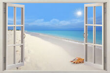 sew view 3D Window View Removable Vinyl Decal Home Decor Mural Wall Art Sticker