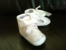 New Baby Boy Christening Baptism Pram Shoes Booties White/Ivory 0-12Months