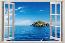 Beach Wall 3d Window Decor Decal Removable Art View Sticker Vinyl Stickers Mural