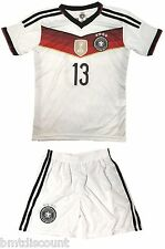 Germany #13 MULLER Kids Home Soccer Jersey & Shorts Youth Sizes- US Seller