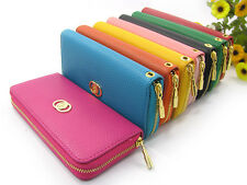 Lady's Leather Wallet Clutch Long Handbag Purse Phone Case for Iphone Galaxy HTC