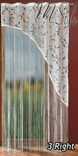String Net Curtain Panel White or Cream Slot Top Window Patio Door Conservatory