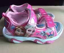 Frozen Princess Elsa Anna Shoes Velcro Kid Girl Sandals Synthetic Leather