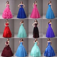 Stock A-line Formal Party Evening Dress Quinceanera Ball Gown Prom Pageant Dress