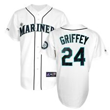 2014 Ken Griffey Jr Seattle Mariners Home White Jersey w/ Patch Men's (S-2XL)