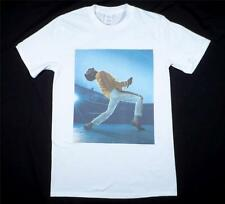 Freddie Mercury Queen White T-Shirt Size S-XXXL Rock and Roll Retro Vintage Glam