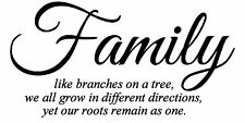 Family Like Branches on a Tree Vinyl Wall Art Quote Decal Sticker