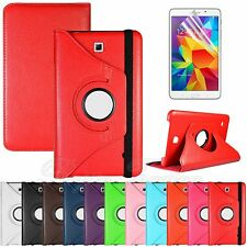 "For Samsung Galaxy Tab 4 8.0"" T330 Rotating PU Leather Case Stand Cover + Film"