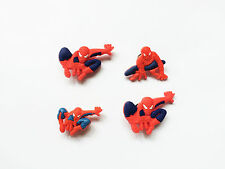 Superhero-Batman-Superman-Spiderman-Rubber Clog Shoe bracelet Charms Cake Topper