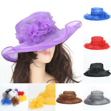 New Women's Vintage Kentucky Derby Sun Hat Wide Brim Wedding Dress Church Racing