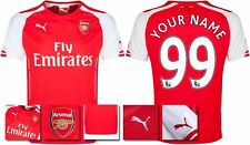 *14 / 15 - PUMA ; ARSENAL HOME SHIRT SS / PERSONALISED = KIDS & JUNIOR SIZE*