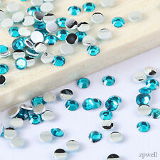 4000pcs Crystal Flat Back Acrylic Rhinestones Beads Nail Art DIY Findings 2mm