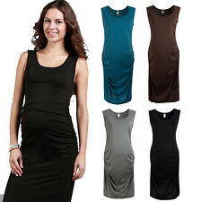Motherhood Maternity Pregnancy Vest Pregnant Women Top Tunic Dress Sleeveless A