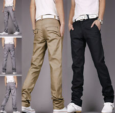 Fashion Stylish Men's Casual Skinny Slim Long Straight Business Pants Trousers