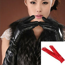 Hot Sexy Vogue Women Girls Noble 44-52cm Patent Leather Elbow Finger Long Gloves